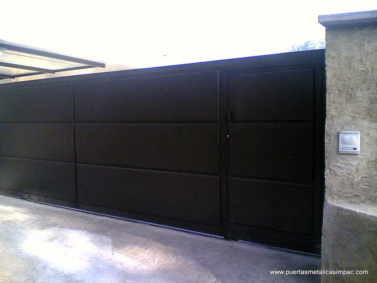Cerrajeria impac s p c puertas met licas fabricaci n for Puertas corredizas metalicas