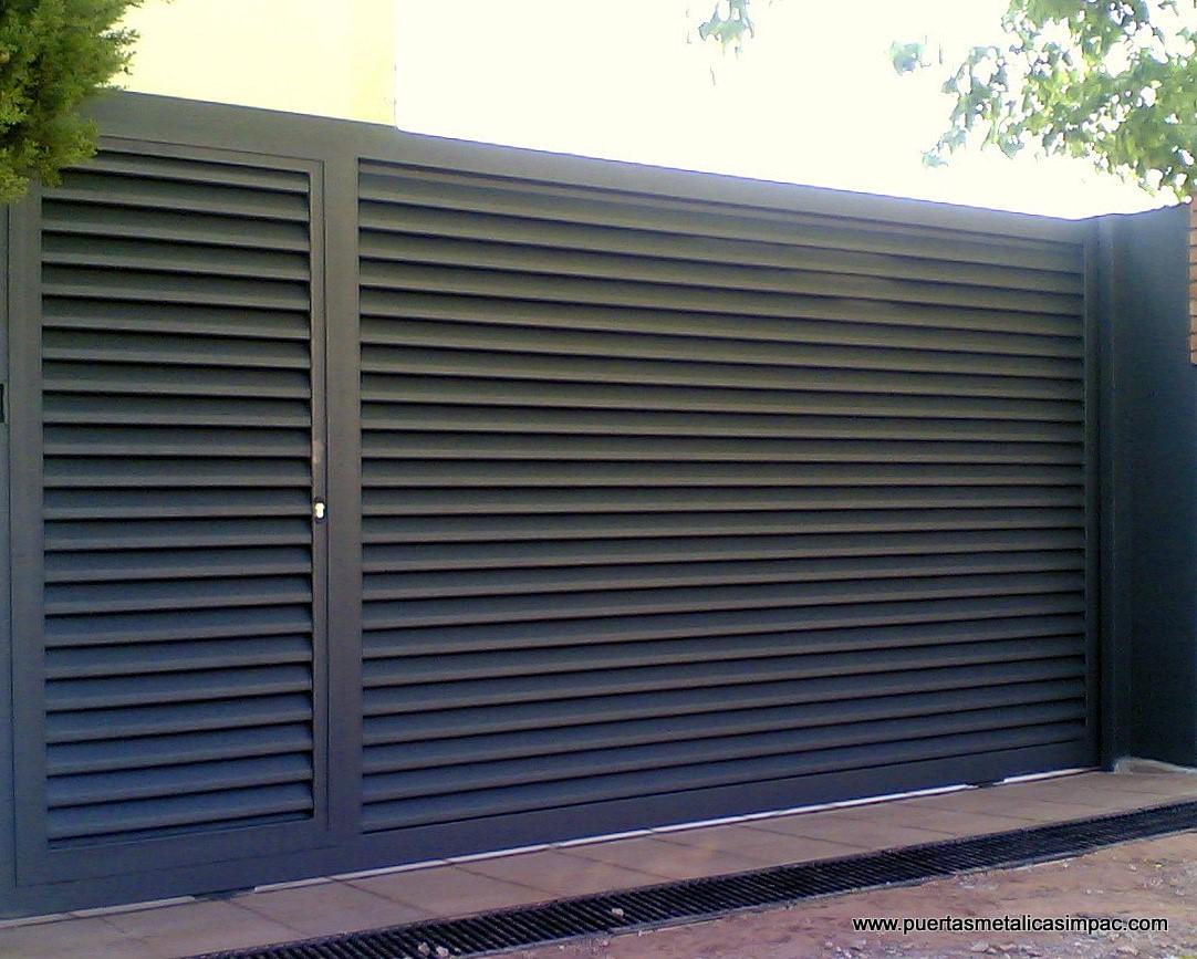 Puertas correderas impac puertas met licas for Puertas corredizas metalicas