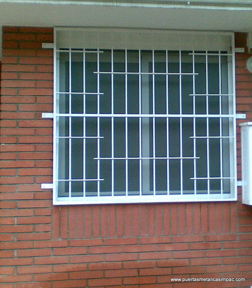Modelos rejas para exteriores casa ventanas decora ilumina for Modelos de puertas exteriores para casas